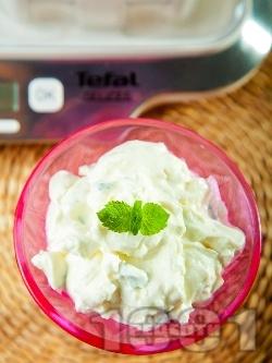 Лесен десерт с домашно кисело мляко, мента и целувки - снимка на рецептата